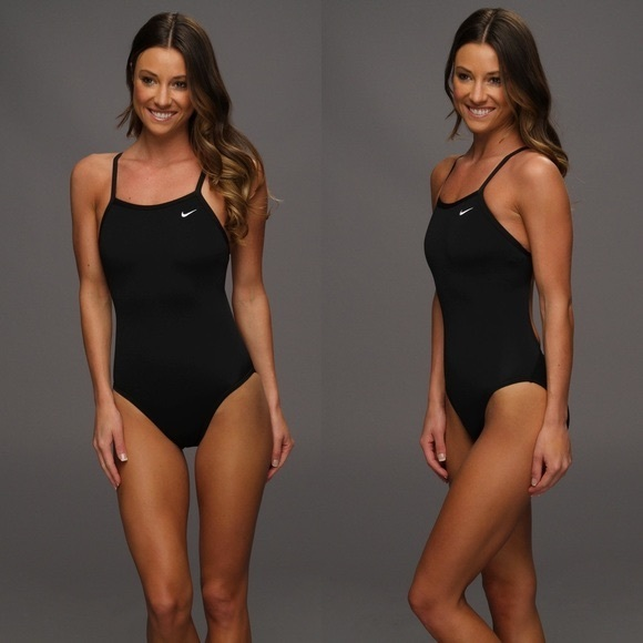 buy popular 75fc2 bb08b Nike Poly Core Solid One Piece Swimsuit